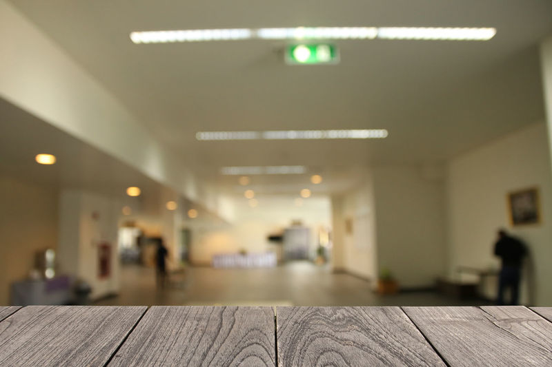 Blurred Copy Space Textured  Background Blurry Brown Design Hard Wood Interior Plank Table Wooden