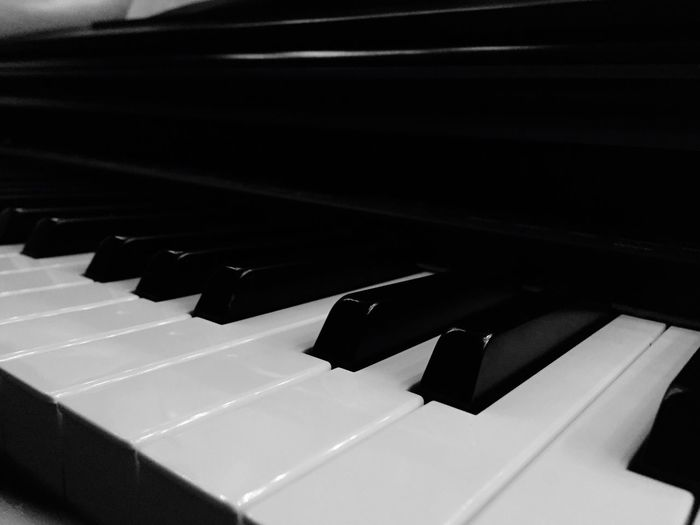 The black and white piano that sits there and is barely used. Different Types Of Music