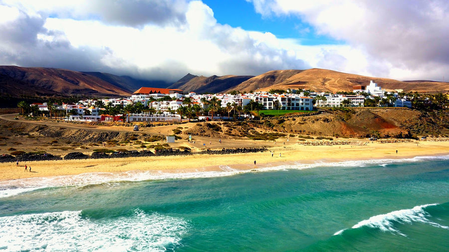 Fuerteventura Island Drone  Dronephotography Drone Photography Droneshot Epic Shore Beach Island Life Ocean Water Mountain Hotel City Wawes Holiday Moments