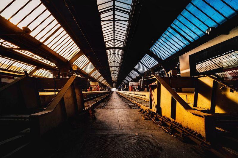 Abandoned railroad station