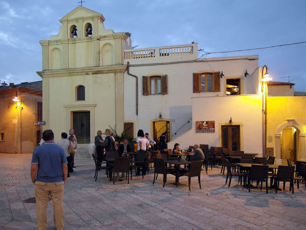 Cathedral square of Termoli Church Square Termoli  Architecture Bar Building Exterior Built Structure Chair Italy Men Molise Outdoors People Real People Residential Building Sunset Table Termoli City Urban Landscape Urban Skyline