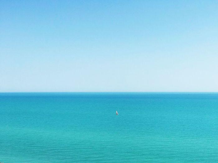 Water Sea Horizon Over Water Horizon Blue Sky Scenics - Nature
