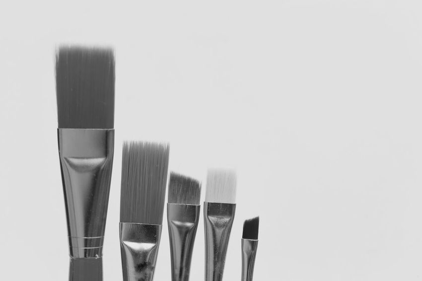Studio Shot Still Life White Background Copy Space Fork No People Variation Close-up Indoors  Day Brush Brushes