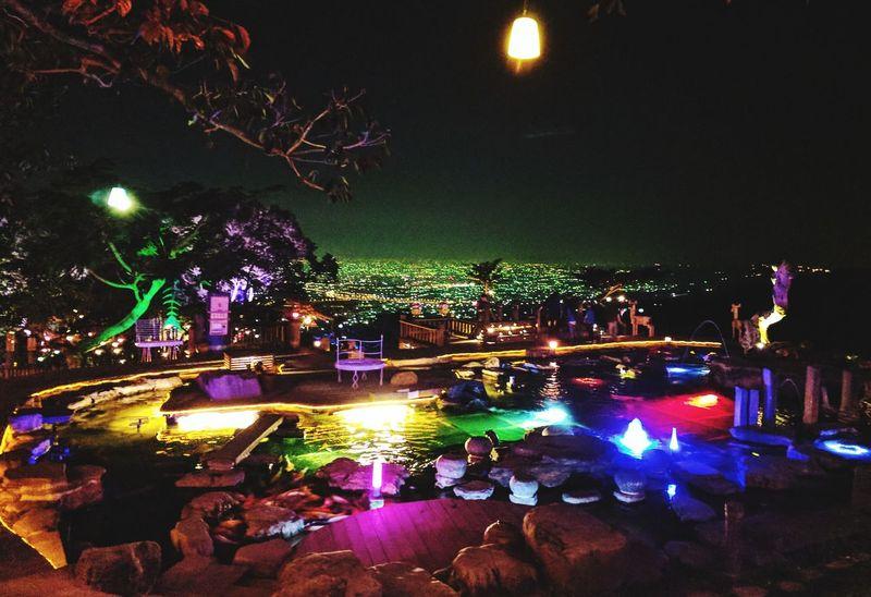 Night Taiwan Illuminated Illuminated City Nightview Lights In The Dark Pond PhonePhotography Neon Life Adventures In The City