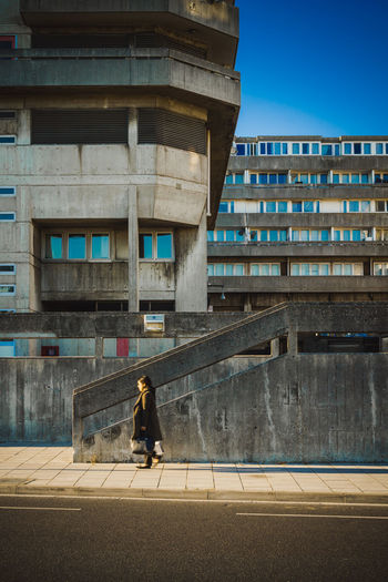 Architecture The Street Photographer - 20I7 EyeEm Awards Brutalism Brutalist Architecture Building Exterior Built Structure City Concrete Concrete Jungle Day Full Length One Person Outdoors People Real People Road Sky Solitude Southampton Street Street Photography The Architect - 2017 EyeEm Awards The Street Photographer - 2017 EyeEm Awards Walking Around Walking Around The City