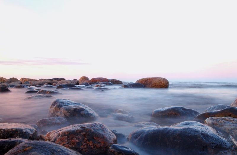 Baltic Sea Beach Beauty In Nature Day Horizon Over Water Long Exposure Nature Nature_collection Naturelovers No People Outdoors Pebble Pebble Beach Scandinavia Scenics Sea Sky Sunset Tranquility Water Wave The Great Outdoors - 2017 EyeEm Awards