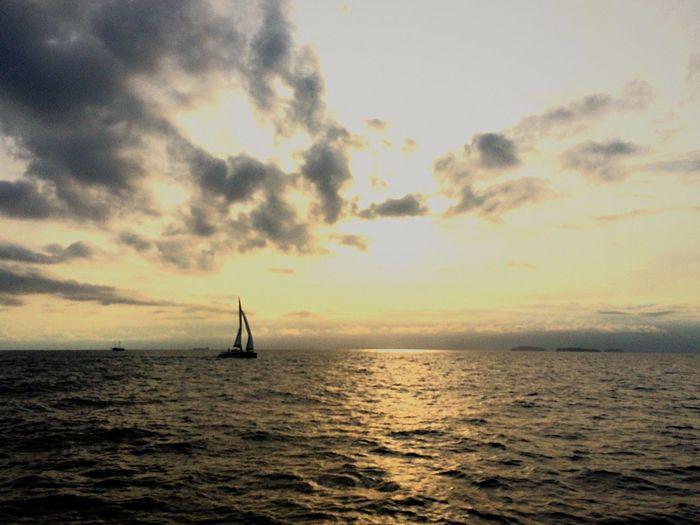 Mar Sea Peace Boat Sunset