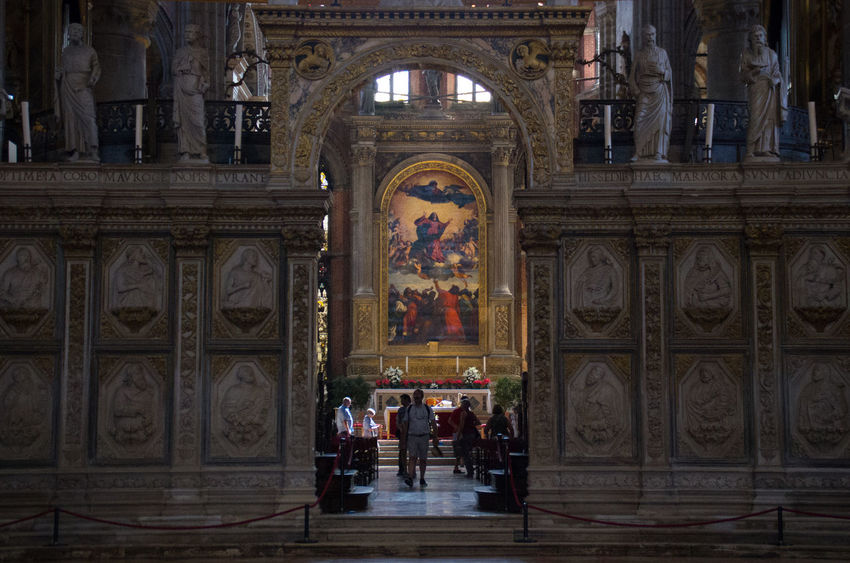 Architecture Built Structure Church Church Of The Brothers Day Europe History Indoors  Italy Painting People Real People Religion Renaisa Santa Maria Gloriosa Dei Frari Sculpture Spirituality Statue The Assumption Titian Travel Destinations Venice Venice, Italy