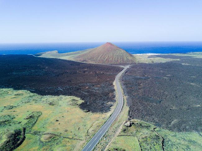 Scenics Landscape Clear Sky Nature Tranquil Scene Tranquility Beauty In Nature Non-urban Scene The Great Outdoors - 2017 EyeEm Awards Idyllic Remote Outdoors No People Sky Mountain A Bird's Eye View Canary Islands Volcanic Landscape DJI Mavic Pro Dji The Way Forward Finding New Frontiers High Angle View Aerial View Geology