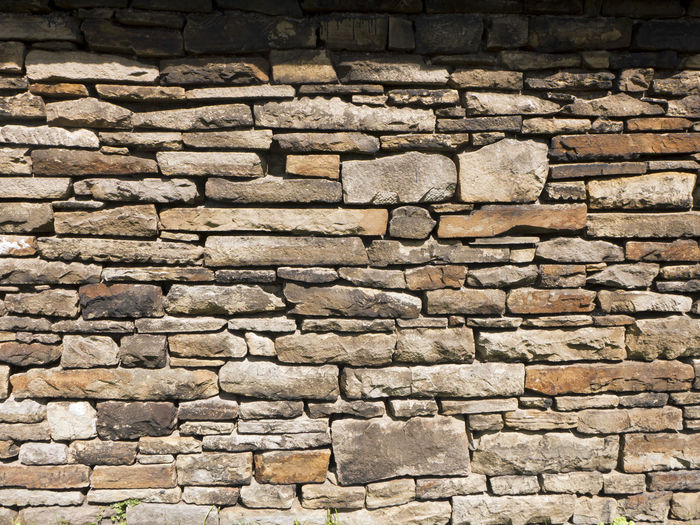 Brick Wall Wall Wall Art Architecture Backgrounds Building Exterior Built Structure Close-up Day Empty Full Frame Gray History Large Group Of Objects No People Old-fashioned Outdoors Quarry Rock Quarrystone Stone Material Textured  Time