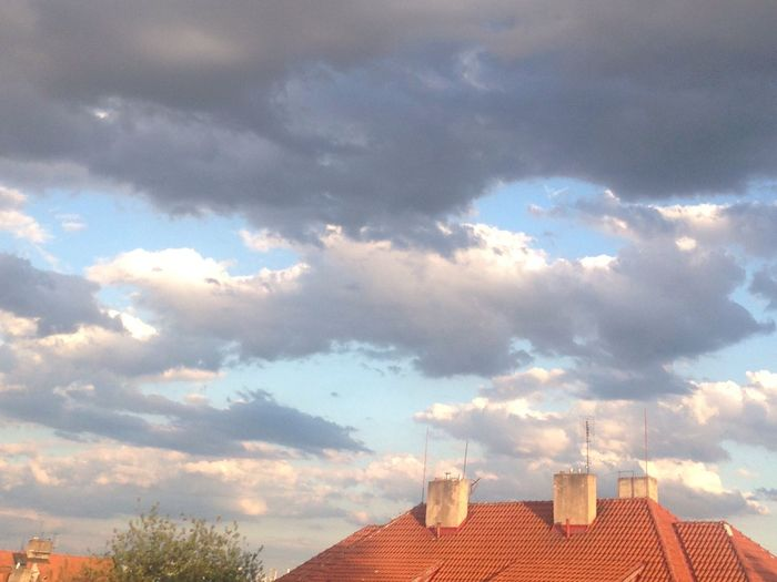 My Scene Sky And Clouds Dramatic Sky Roof From My Point Of View From My Terrace  The Great Outdoors - 2016 EyeEm Awards The Evening Sky Showcase July