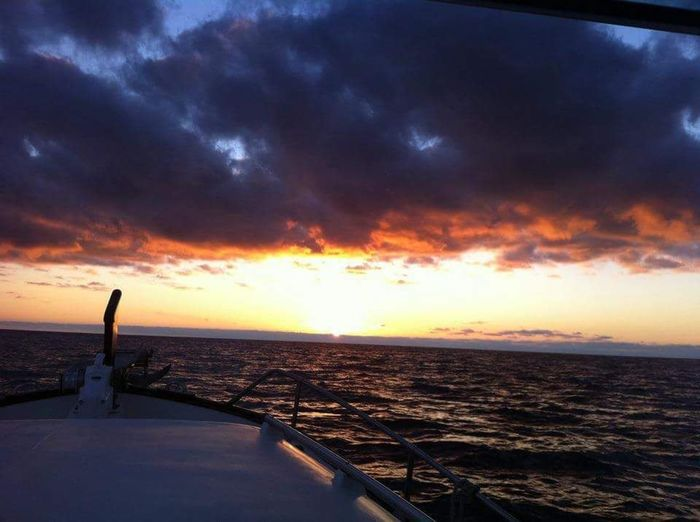 at sea . During