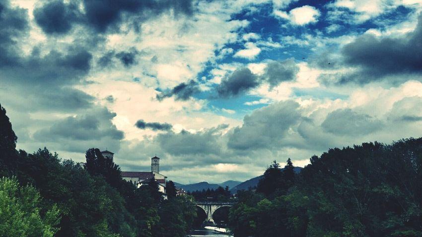 Ponte del diavolo Bridge Ponte River Fiume Natisone Cividale Del Friuli Clouds And Sky Udine Friuliveneziagiulia Friuli Venezia Giulia