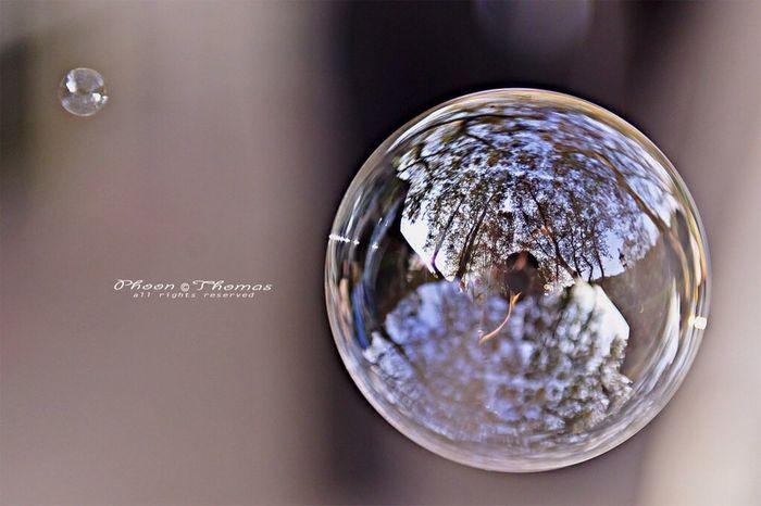 bubble reflection... Random Reflections Blowing Bubbles Macroclique