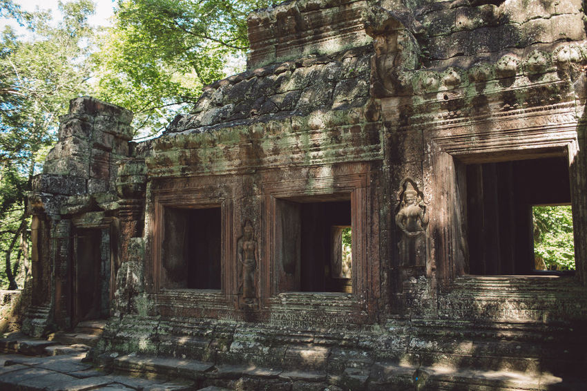 Siem Reap Cambodia Angkor Architecture Built Structure Building Tree Place Of Worship Plant No People Day Religion History Abandoned Building Exterior Belief The Past Old Ruin Old Spirituality Nature Outdoors Ruined Archaeology Ancient Civilization