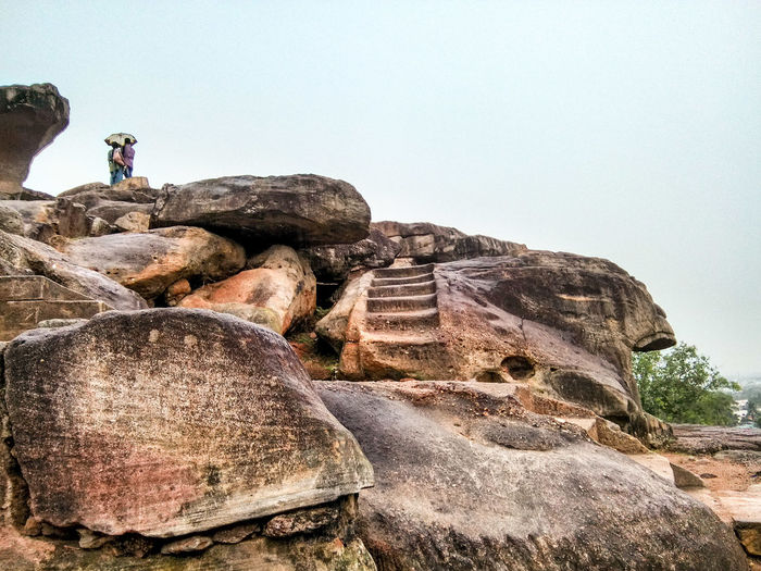 Caves Photography Khandagiricaves Couple Hidden Gems  Udayagiricaves Caves Rocks Stairs Carved Rock in Bhubaneswar Odisha India