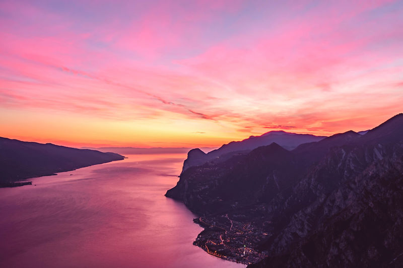 The Sunset. Sunset Landscape Beauty In Nature Dramatic Sky Scenics Beauty Ethereal Mountain Idyllic Cloud - Sky No People Outdoors Sky Romantic Sky Nature Day in Trentino  Lake Garda Punta Larici Garda See