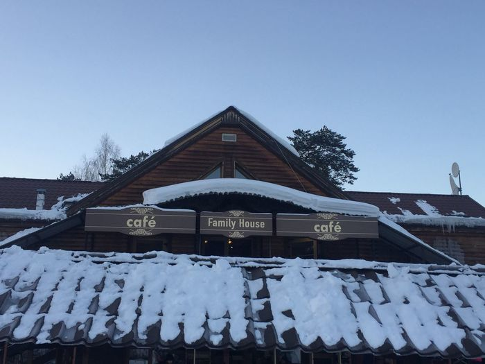 Snowing cafe