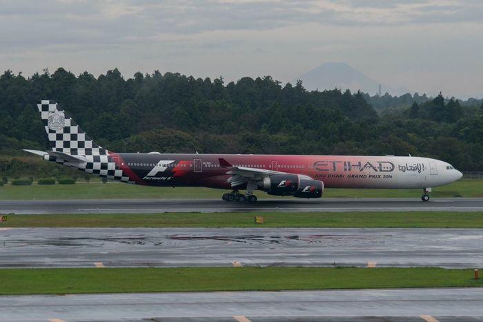 Ethihad Ethihad AirPlane ✈ A340 - 600 Mt.Fuji NARITAAIRPORT