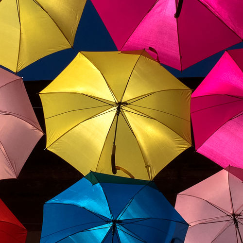 Umbrella Sky Abstract Abundance Backgrounds Close-up Colorful Day Decoration Design Full Frame Geometric Shape Multi Colored No People Parapluies Pattern Repetition Shape
