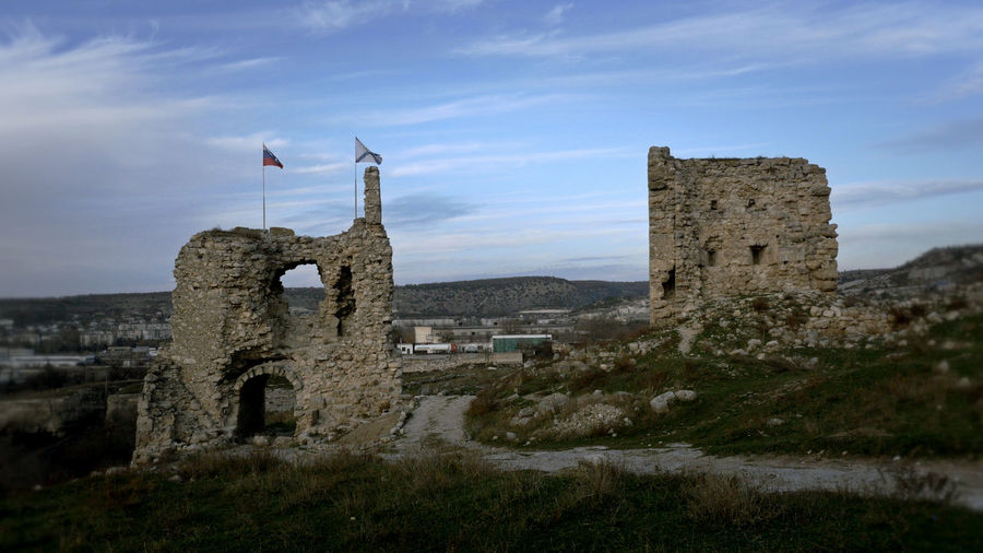 Old Ruin Castle Against Sky