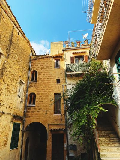 Italian Italy Building Exterior Built Structure Building Sky Low Angle View Plant City House First Eyeem Photo
