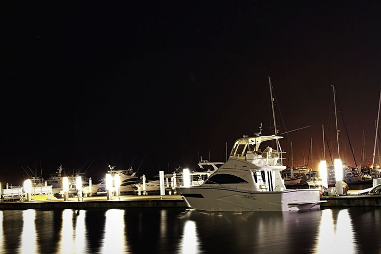 Holiday Night Lights Night View Night Ship