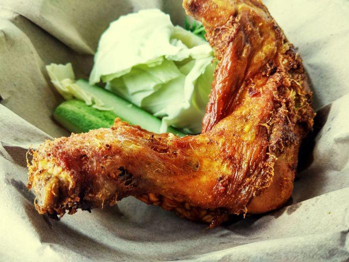 Ayam Penyet Ayampenyet EyeEm Selects Food Food And Drink Roasted Meat No People Close-up Freshness