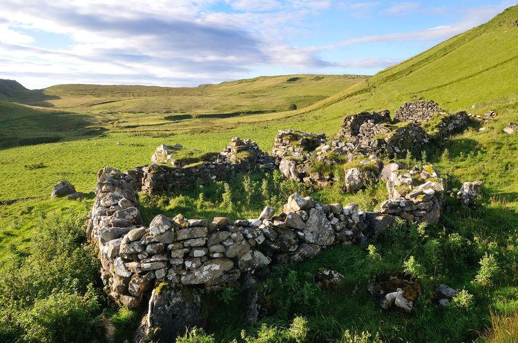 Ruins of a croft near Culnacnoc, Isle of Skye Building Cloud Croft Grass Grassy Highlands Hill History Landscape Non Urban Scene Non-urban Scene Outdoors Remote Ruin Scotland Sky Skye Stone Tranquil Scene Tranquility