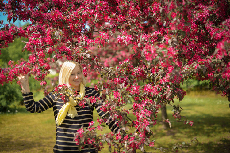 Apple Blond Hair Blossom Day Flower Flowers Heyday May Nature One Girl Only One Person Outdoors Red Springtime Summer Women Women Around The World