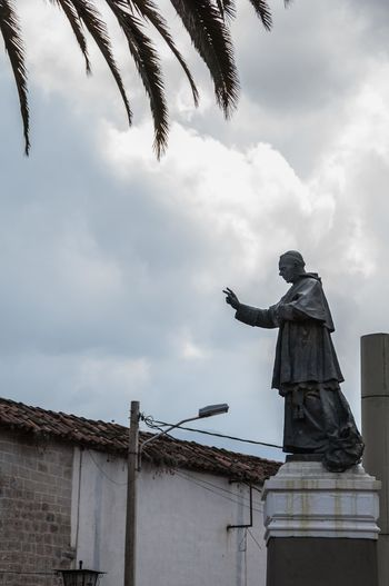 Bolivia Catholic Cochabamba Pope Santa Teresa Convent Museum Statue Catholic Church Cloud - Sky Plaza Sculpture Statue