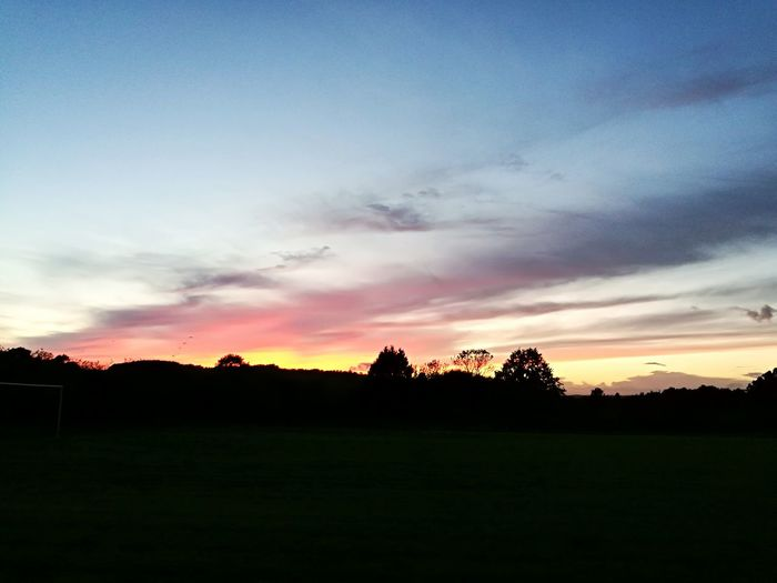 Colwall Stone Sunset Tranquil Scene Sky Field No People Landscape