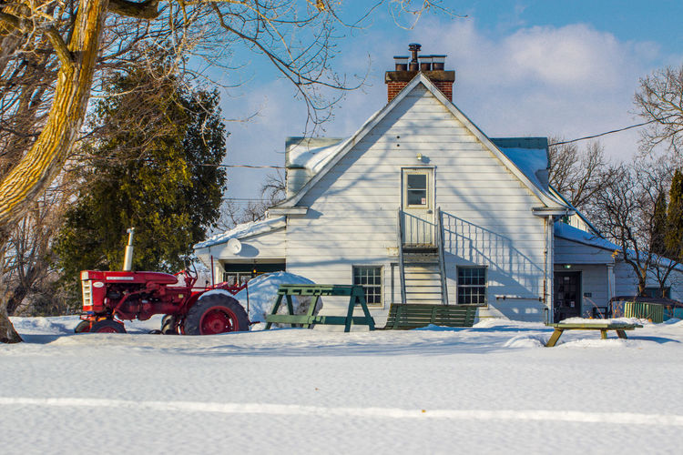 Winter wonderland 50-500mm Farm Farm Life Winter Wintertime Architecture Building Exterior Built Structure Canada Coast To Coast Cold Cold Temperature Day No People Outdoors Sky Snow Sony A68 Travel Destination Travel Destinations Tree Winter Winter Wonderland