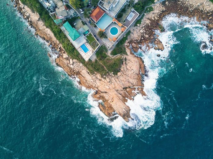 angle ---by dji mavic pro Water High Angle View Aerial View Sea Architecture Beach Built Structure Day Outdoors Building Exterior No People Wave Nature Drone  EyeEmNewHere Mix Yourself A Good Time The Week On EyeEm HongKong Travel Destinations Cityscape Urban Scene Sky Urban Travel