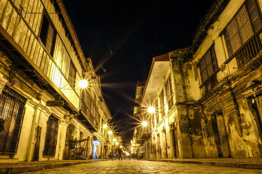 UNESCO World Heritage Site UNESCO World Heritage Site Photography Streetphotography Philippines Midnight Long Exposure Heritage History Photography EyeEm Ready   Architecture Built Structure Celebration No People Low Angle View City