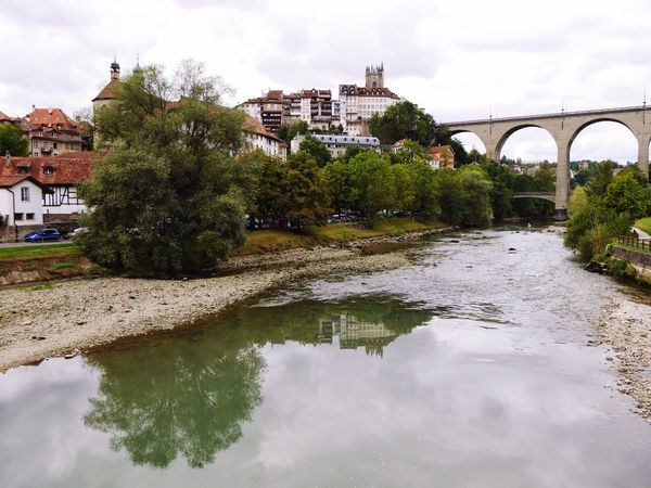 Fribourg EyeEmSwiss EyeEm Best Shots Viaduct Water Reflections Reflection Water_collection Landscape Landscape_Collection Urban Landscape Seeing The Sights
