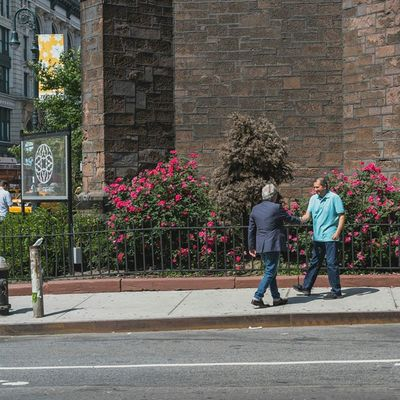Men Shakinghands at the SidewalkAcross on 20thstreet NYC streetphotography 50mm urban people instapeople Manhattan