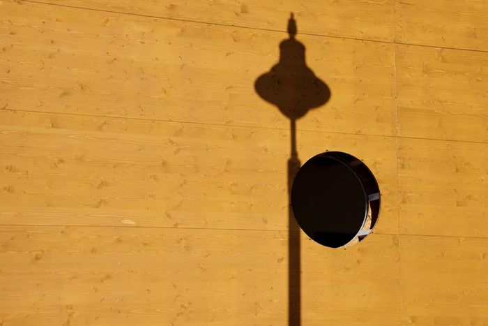 Ten Wall - Building Feature Built Structure Shadow No People Architecture Sunlight 10 Outdoors Geometric Shape Building Exterior Design Yellow Textured  Creativity