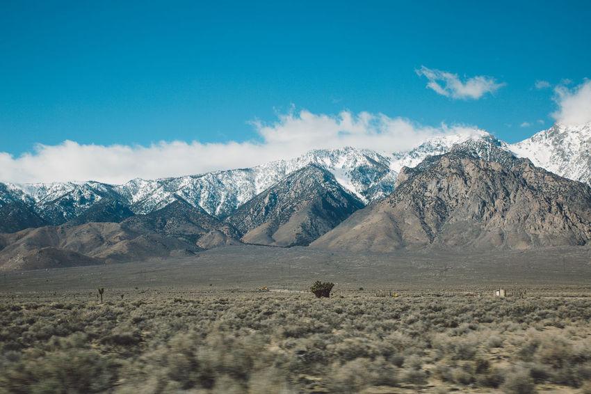 Arid Climate Blue Sky CA-190 Coso Death Valley Desert Landscape Mountains Nature Olancha Peaks Road Roadtrip Snow