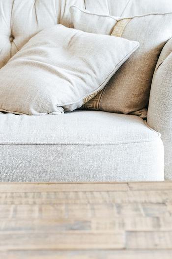 Full frame shot of sofa at home
