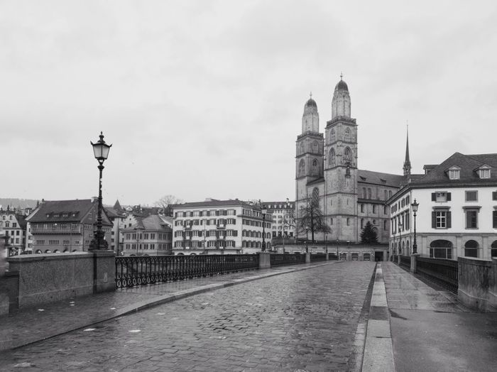 The famous grossmünster catherdrale in zurich, switzerland