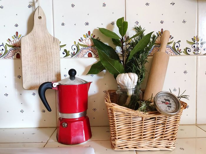 Italian Style Kitchen Kitchen Utensil Herbs EyeEm Selects Container Indoors  Basket Wicker Still Life Home Interior Wall - Building Feature