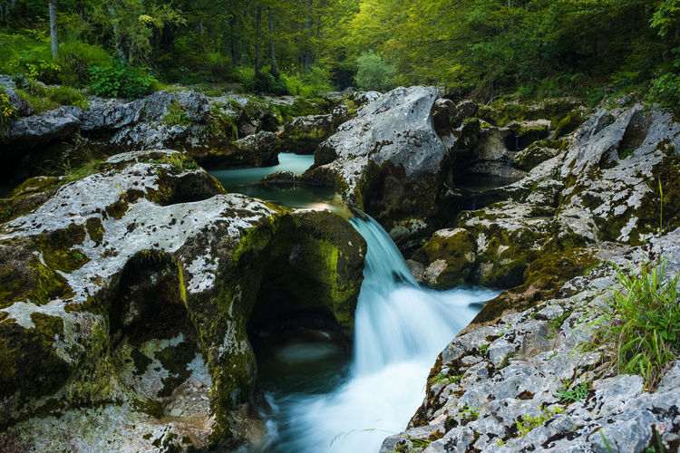 Mlinarica river Beauty In Nature Flowing Flowing Water Forest Idyllic Landscape Motion Nature Outdoors Photography Power In Nature River Rock Rock Formation Scenics Slovenia Stream Tranquility Water Waterfall