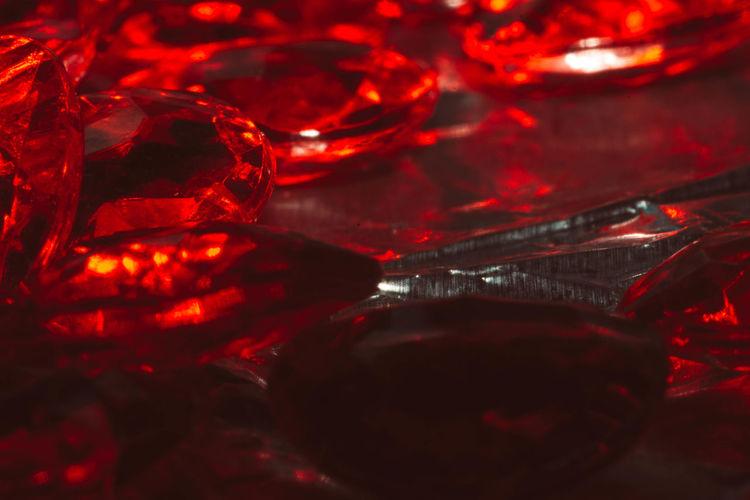 Full Frame Shot Of Red Precious Gems