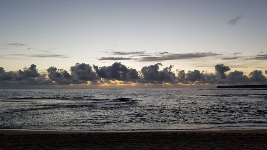 Nature No People Tranquility Landscape Sky Sunrise_Collection Sunrise Photography Sunrise And Clouds Beach Tranquility Hawaii Wave Cloud - Sky Colour Of Life Beauty In Nature Vacations Enjoying Life SNKshot Beauty In Nature Hawaii Life Hawaii Waves Hawaii Sunrise