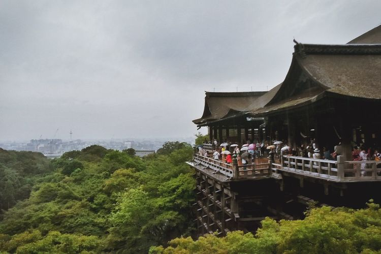 Kiyomizu-dera in Kyoto Architecture Bad Weather Built Structure Cloud - Sky Cloudy Culture Famous Place Japanese Culture Japanese Temple Kiyomizu Kiyomizu-dera KiyomizuTemple Nature Outdoors Rainy Day Religion Religious Architecture Sky Temple Temple - Building Tourism Tourist Travel Destinations Tree Ultimate Japan