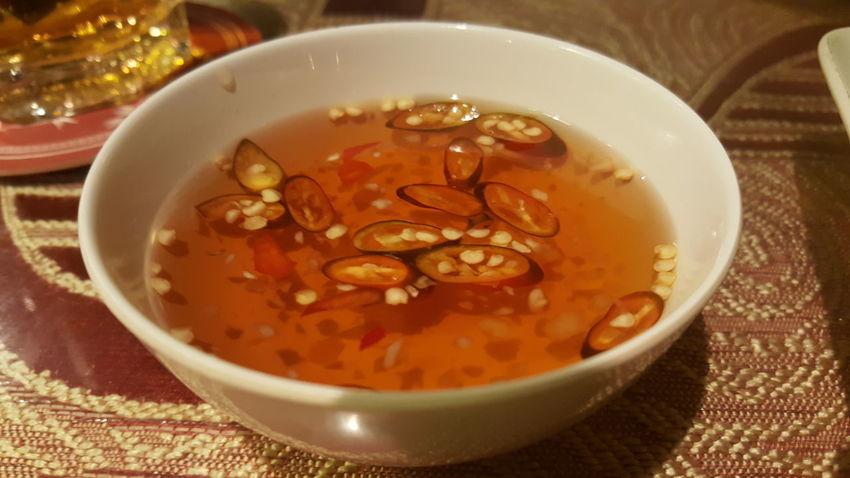 Chili sauce in restaurant in Vietnam. Food Restaurant Vietnam Dining Da Nang Sauce Chili