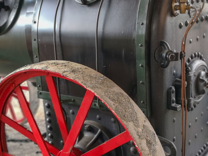 Dampfmaschine Dampfmaschine Historical Old Machines Red Color Black Steam Train Locomotive Close-up Train - Vehicle Rusty Wheel Vintage Land Vehicle