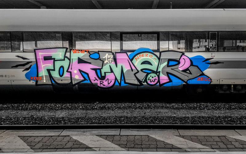 Graffiti on railroad tracks