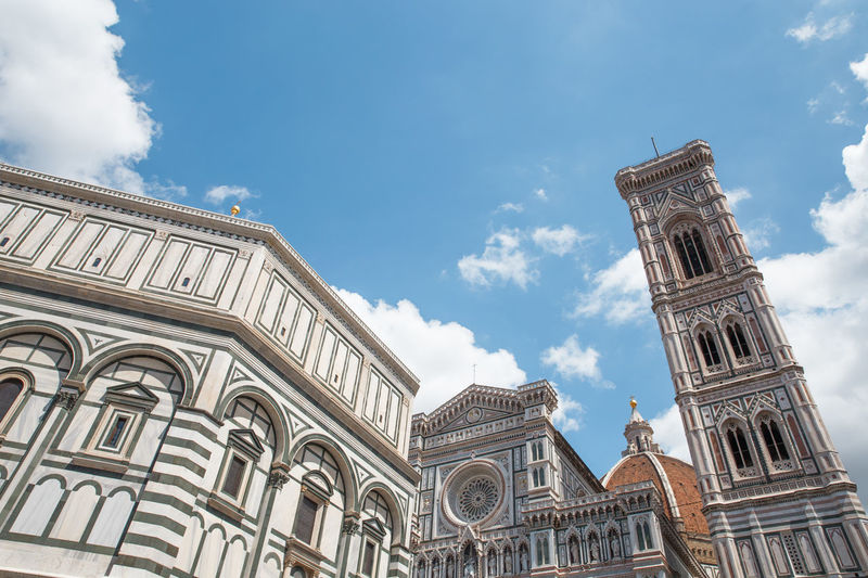 Architecture Building Exterior Built Structure Cathedral Church City Cloud - Sky Day Duomo Santa Maria Del Fiore History Low Angle View No People Outdoors Sculpture Sky Statue Summer Tower Travel Destinations